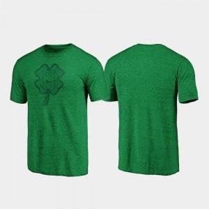 Arkansas Razorbacks T-Shirt St. Patrick's Day Celtic Charm Tri-Blend Green For Men