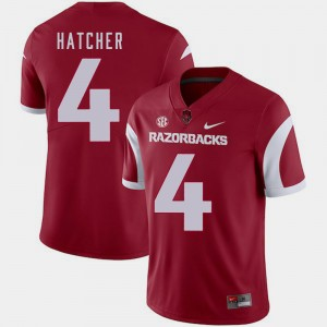 Arkansas Razorbacks Keon Hatcher Jersey Cardinal Men's College Football #4
