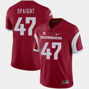 Arkansas Razorbacks Martrell Spaight Jersey Mens College Football Cardinal #47