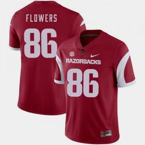 Arkansas Razorbacks Trey Flowers Jersey College Football Cardinal For Men #86