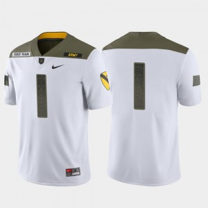 Army Black Knights Jersey 1st Cavalry Division #1 White For Men Limited Edition