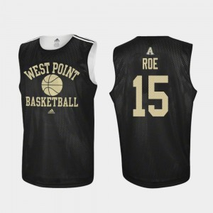 Army Black Knights Adam Roe Jersey Black For Men College Basketball Practice #15