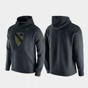 Army Black Knights Hoodie 1st Cavalry Division Men Anthracite