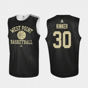 Army Black Knights Ben Kinker Jersey Practice College Basketball #30 Black For Men