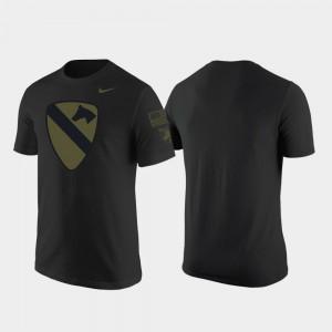 Army Black Knights T-Shirt Black Mens 1st Cavalry Division