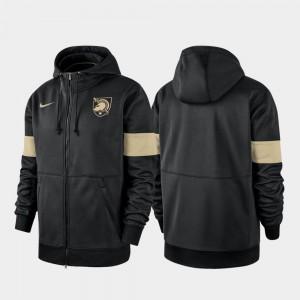 Army Black Knights Hoodie For Men's 2019 Sideline Therma-FIT Performance Full-Zip Black
