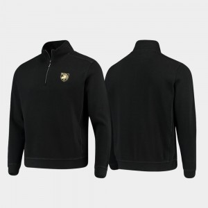 Army Black Knights Jacket Men College Sport Nassau Black Half-Zip Pullover Tommy Bahama