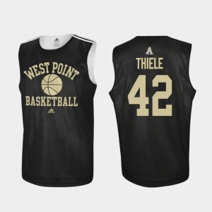 Army Black Knights Brendan Thiele Jersey For Men's Practice #42 College Basketball Black