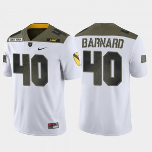 Army Black Knights Cade Barnard Jersey Men's 1st Cavalry Division Limited Edition White #40