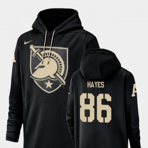 Army Black Knights Christian Hayes Hoodie For Men's Champ Drive Black Football Performance #86