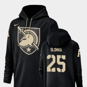 Army Black Knights Connor Slomka Hoodie Football Performance Champ Drive #25 Mens Black