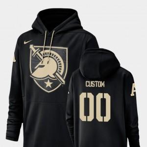 Army Black Knights Customized Hoodie #00 Men's Black Football Performance Champ Drive