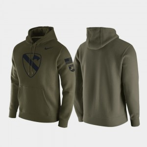 Army Black Knights Hoodie 1st Cavalry Division Green Mens