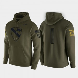 Army Black Knights Hoodie 1st Cavalry Division Green Pullover #1 For Men's