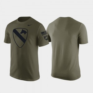 Army Black Knights T-Shirt 1st Cavalry Division Men's Green