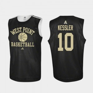 Army Black Knights Jacob Kessler Jersey College Basketball Practice Black #10 For Men's