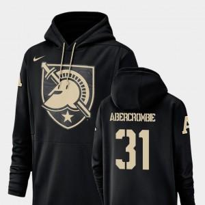 Army Black Knights John Abercrombie Hoodie Black For Men Football Performance Champ Drive #31