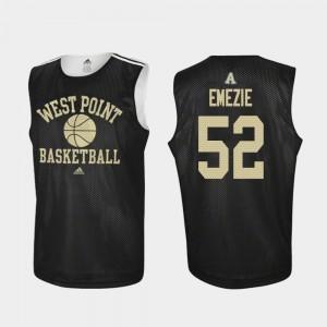 Army Black Knights John Emezie Jersey For Men Black #52 College Basketball Practice