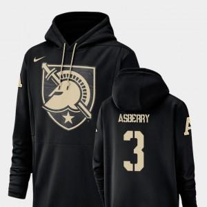 Army Black Knights Jordan Asberry Hoodie #3 Black Champ Drive Football Performance Men