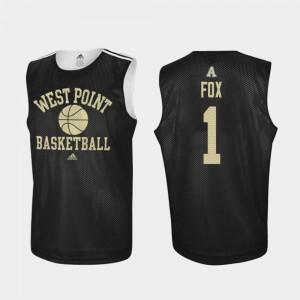 Army Black Knights Jordan Fox Jersey Black #1 Practice Mens College Basketball