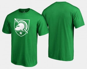 Army Black Knights T-Shirt For Men's White Logo Big & Tall St. Patrick's Day Kelly Green
