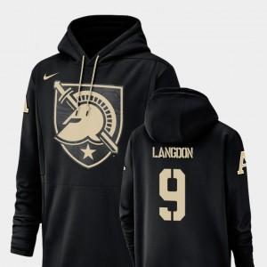 Army Black Knights Luke Langdon Hoodie Black #9 For Men Champ Drive Football Performance