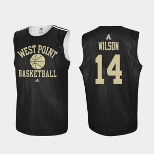 Army Black Knights Matt Wilson Jersey Men Practice #14 College Basketball Black