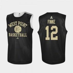 Army Black Knights Nick Finke Jersey Practice College Basketball Men's #12 Black