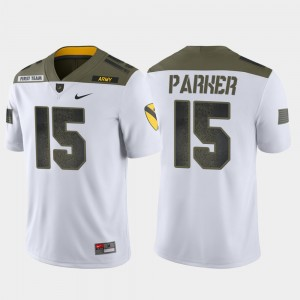 Army Black Knights Ryan Parker Jersey #15 For Men's White 1st Cavalry Division Limited Edition