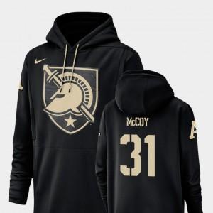 Army Black Knights Sandon McCoy Hoodie Champ Drive Football Performance #31 Black For Men