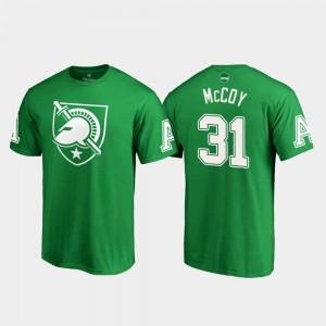 Army Black Knights Sandon McCoy T-Shirt Mens #31 Kelly Green White Logo St. Patrick's Day
