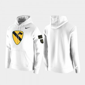 Army Black Knights Hoodie 1st Cavalry Division White For Men's