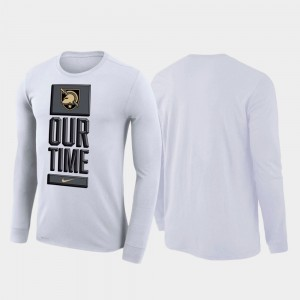 Army Black Knights T-Shirt 2020 March Madness White For Men's Our Time Bench Legend