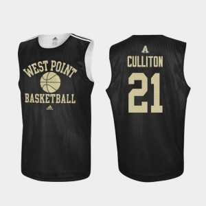 Army Black Knights Will Culliton Jersey Practice #21 College Basketball Men Black