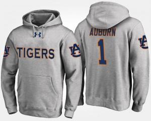 Auburn Tigers Hoodie No.1 #1 Gray For Men's