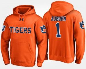 Auburn Tigers Hoodie For Men's #1 No.1 Orange