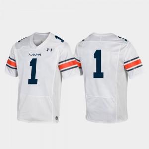 Auburn Tigers Jersey White Replica #1 Men's College Football