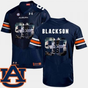 Auburn Tigers Angelo Blackson Jersey Mens Navy Football Pictorial Fashion #98