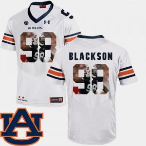 Auburn Tigers Angelo Blackson Jersey Football #98 Men's White Pictorial Fashion