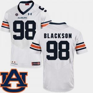 Auburn Tigers Angelo Blackson Jersey #98 SEC Patch Replica Men's White College Football
