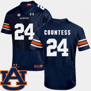 Auburn Tigers Blake Countess Jersey SEC Patch Replica College Football Navy Men #24