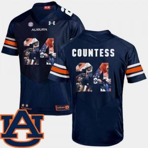 Auburn Tigers Blake Countess Jersey #24 Navy Men's Football Pictorial Fashion