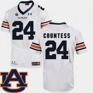Auburn Tigers Blake Countess Jersey #24 Men's White SEC Patch Replica College Football