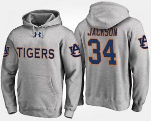 Auburn Tigers Bo Jackson Hoodie #34 Gray For Men's