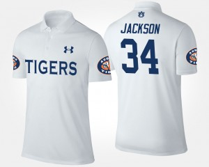 Auburn Tigers Bo Jackson Polo #34 White Men
