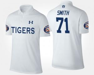 Auburn Tigers Braden Smith Polo White #71 Men's