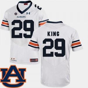 Auburn Tigers Brandon King Jersey Men's SEC Patch Replica #29 College Football White