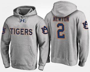 Auburn Tigers Cam Newton Hoodie Gray #2 Mens