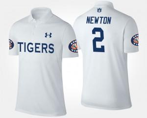 Auburn Tigers Cam Newton Polo Men's #2 White