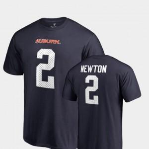 Auburn Tigers Cam Newton T-Shirt Navy #2 College Legends Men Name & Number